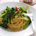 味付けは塩昆布だけ!ツナと小松菜の和風ペペロンチーノ