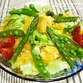 <夏みかんとグリーングリーンサラダ>