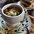 タラとサフランの具沢山スープ