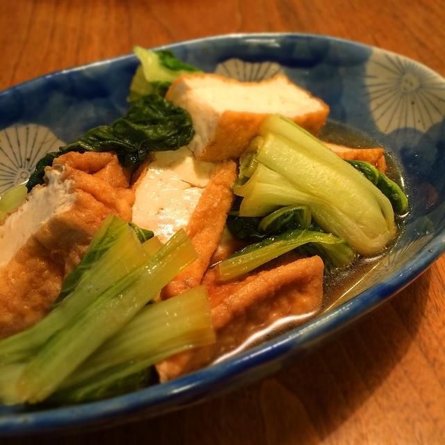 厚揚げと菜っ葉の煮浸し
