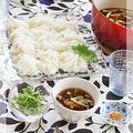 母の味♪ 温かいつけ汁で食べる素麺で お昼ごはん
