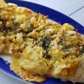 キャベツと玉ねぎのカレー粉揉みこみピザ