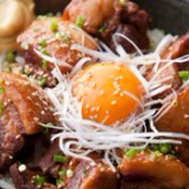 今宵の肴 @ 豚 角煮丼