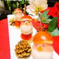 クリスマスのオードブルに♡簡単サンタさんピンチョス&クックパッドニュース掲載頂きました