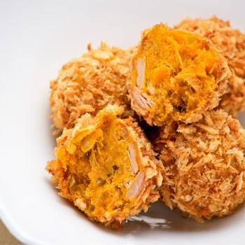 ツナとかぼちゃの焼きコロッケ