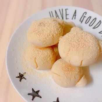 【フライパンパン】グルテンフリー☆発酵不要!豆腐きな粉パン