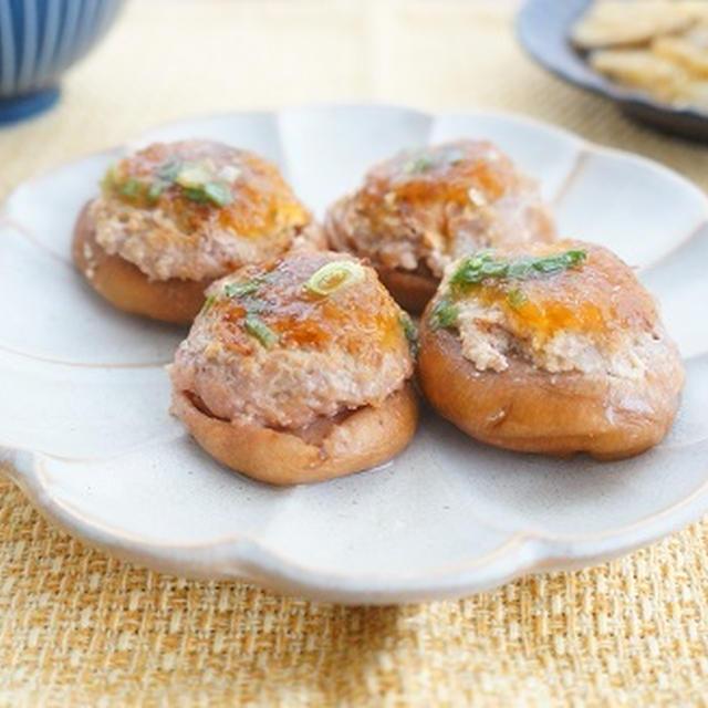 長芋でふわふわ♪椎茸の肉詰めおろし大根ゆず風味
