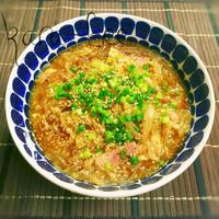 具沢山1杯満足♡キャベ玉春雨のカレーダシダスープ