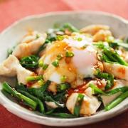 しっとり鶏むね肉のユッケ風、簡単温泉卵の作り方