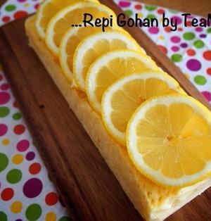 レンジ3分☆牛乳パックでハチミツレモンケーキ