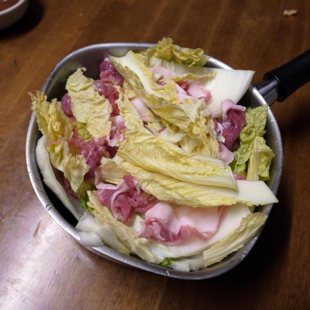 [主菜] 豚肉と白菜の重ね焼き