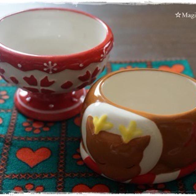 クリスマスにかわいい陶器