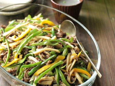 >ほんのちょっと丁寧に作る、青椒牛肉絲。 by ささきのりこ。さん