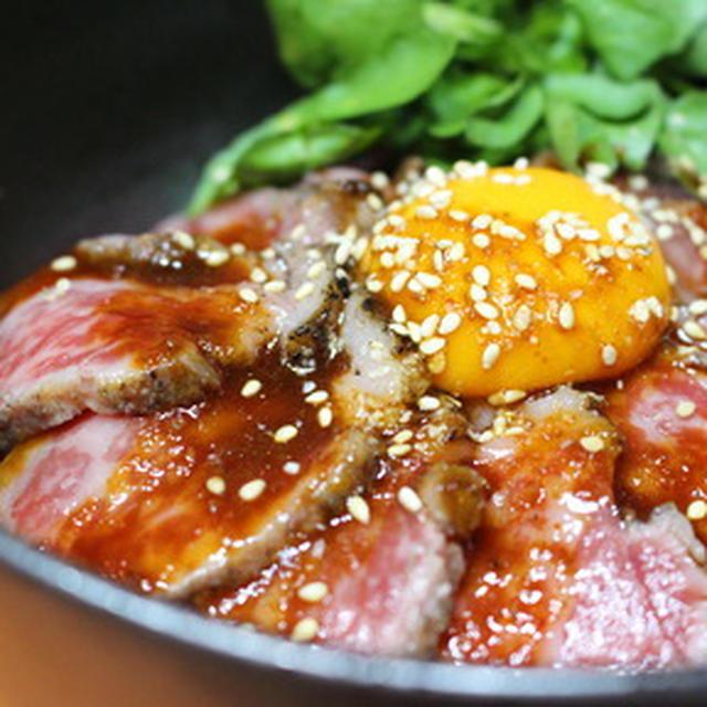 365日米レシピNo.115「ローストビーフ丼」