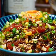 【レシピ】マグロときゅうりのピリ辛塩こんぶユッケ