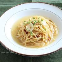 原材料は豆だけのパスタ麺!「ZENBnoodle」でスープ仕立てのペペロンチーノ【PR】
