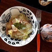 白菜とベーコンとツナの塩煮