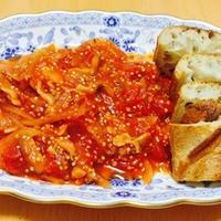 バゲットと食べるキヌア入りトマトシチュー