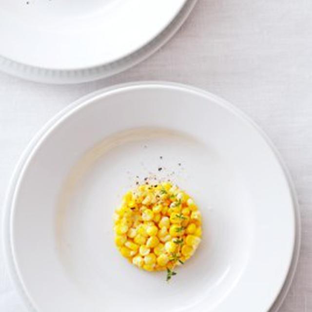 トウモロコシのサラダ、タイム風SALADE DE MAIS DOUX AU THYM