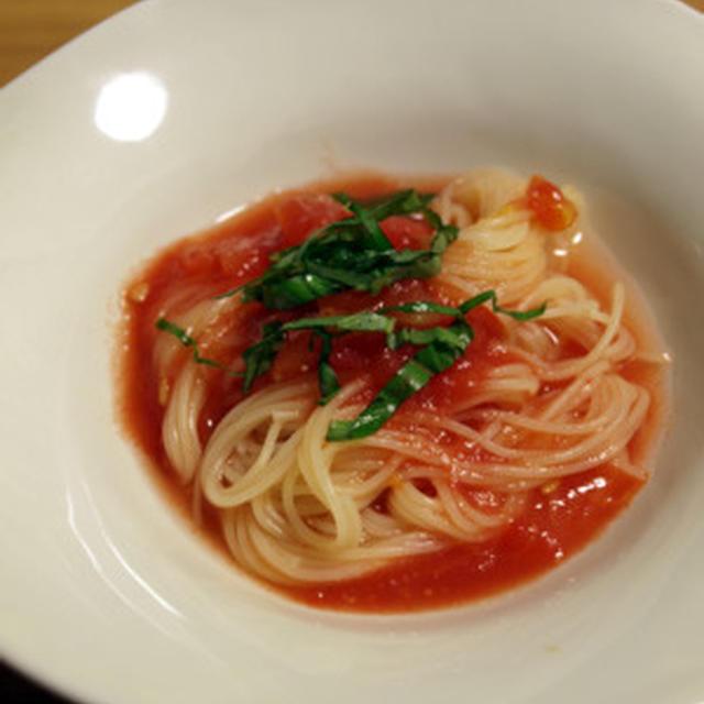 冷製カペリーニ さっぱりトマトソース