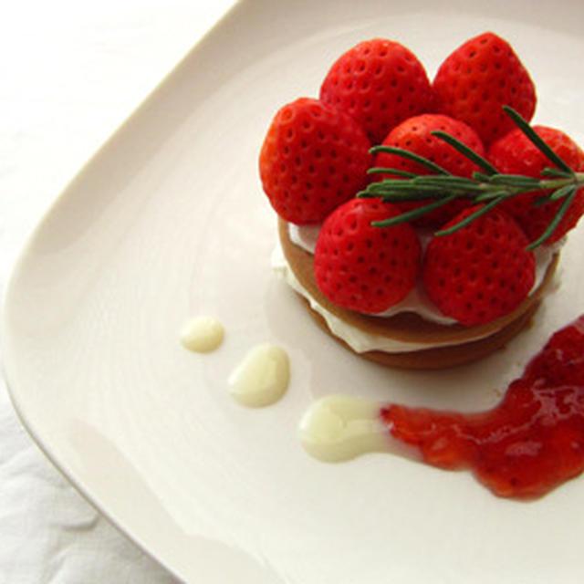 苺とヨーグルトのデザート