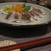 炙り鯛のお刺身