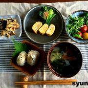 【簡単!副菜・常備菜】きのこの海苔和え と、和定食