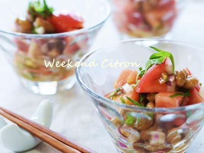 >暑い夏の朝食に♪おつまみに♪トマト納豆 by 北島真澄さん