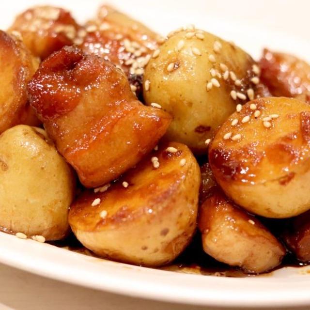 『じゃが芋と豚バラの煮っころがし』*今日のレシピ