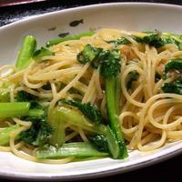 じゃこと小松菜の生姜ポン酢スパゲティ