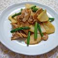 筍と豚肉のガラムマサラ炒め