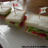 簡単★ぬるチーズと野菜のサンドイッチ