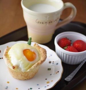 ホットケーキミックスでつくる、バランス朝食カップ