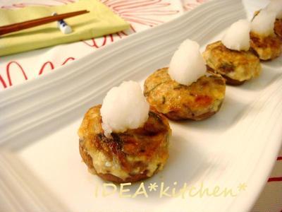 ★今宵のお洒落つまみ**豆腐とサンマ缶の椎茸詰め 柚子こしょうソースで。