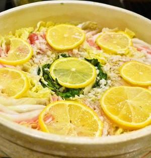 【塩こうじレモン鍋 白菜と豚肉のミルフィーユ仕立て】鍋レシピコンテスト受賞!