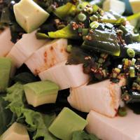 ★豆腐とわかめの韓国風サラダ(醤油ヤンニョムジャン)。