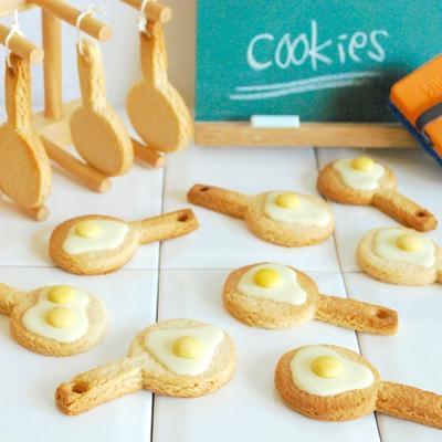 牛乳パックで簡単!目玉焼きクッキー!(ホケミ使用)
