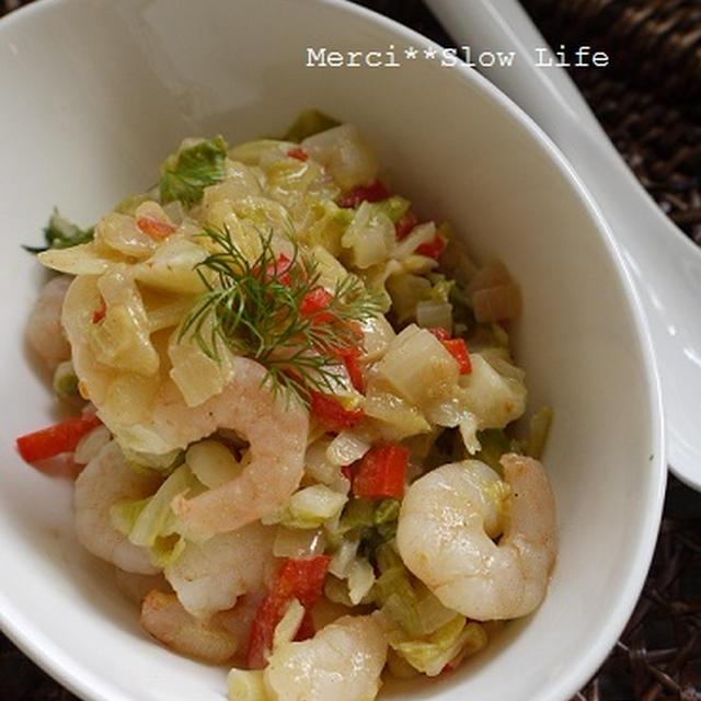 フェンネルを使って「海老と野菜のスイートチリ&マヨ炒め」