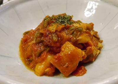 ★ 簡単鶏トマト煮&アボカド生ハム