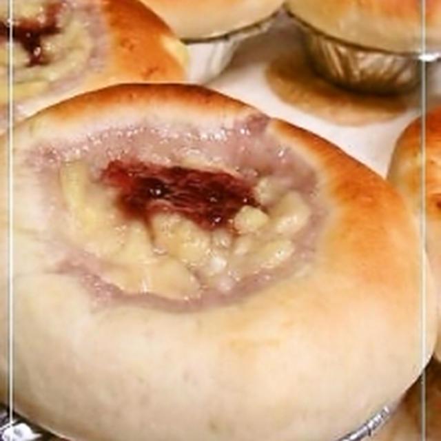 きのこ型☆クリームジャムパン
