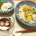 天ぷらうどんとスパイシーな塩麹鶏ハム♪