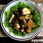【簡単!!副菜】ナスと長芋のゴマめんつゆと、『レシピブログで人気のフライパン1つで作るおかず』
