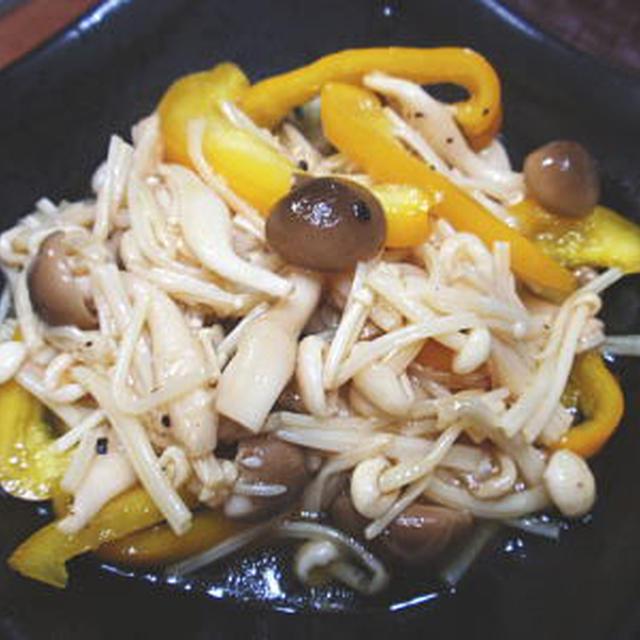 レンジで簡単!きのことパプリカのマリネサラダ(レシピ付)