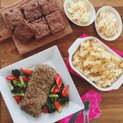 1月の料理教室メニューは『ブラウニーとミートローフでアメリカ料理』