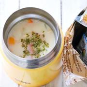 おにぎりとスープジャーのお弁当【ミルクスープ&中華風スープ】