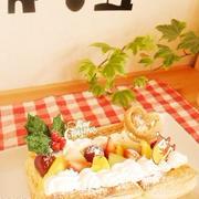 クリスマスケーキ*冷凍パイシートで簡単パイケーキ