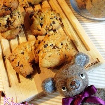 ピーナッツバターたっぷり☆ピーナッツバターチョコチップクッキー