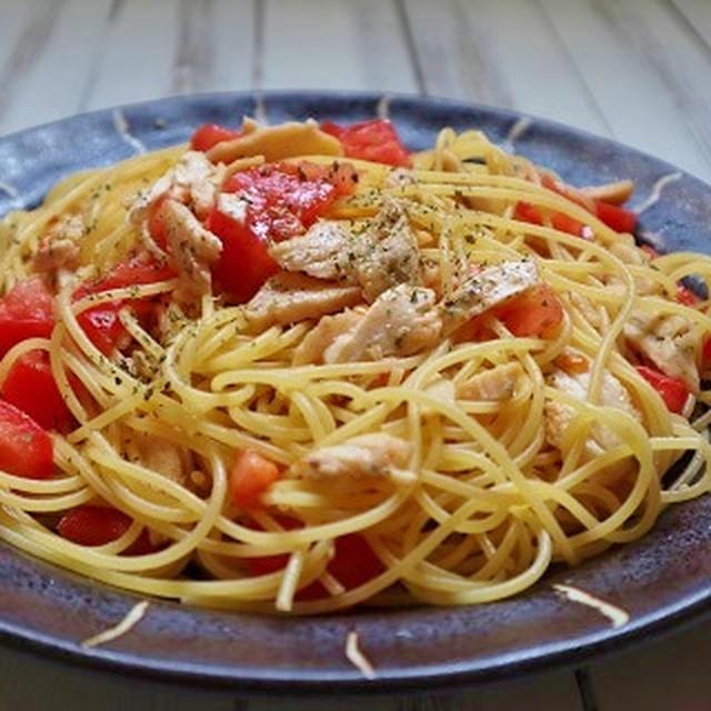 簡単に作れる ダイエットレシピ!「サラダチキンとトマトのパスタ」