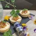 市販のタルト台で手軽に作りましょう!!リンゴのキャラメルタルト「チーズクリーム入り」