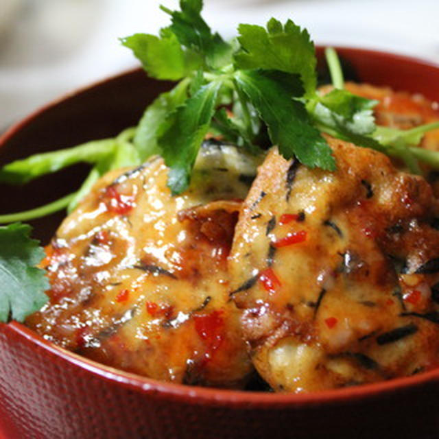 豆腐料理のスイートチリソース(*゚▽゚*)